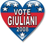 Vote Rudy Giuliani 2008 Political T-shirts & Gifts