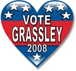 Vote Charles Grassley 2008 Political T-shirts Gift