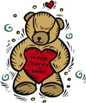 Valentine Bear T-shirts & Gifts