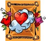 Valentine Heart Balloon T-shirts & Gifts