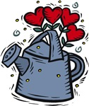Watering Can with Hearts T-shirts & Gifts
