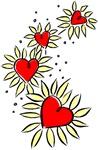 Heart Daisies T-shirts & Gifts