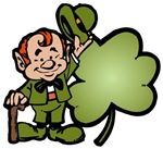 Leprechaun and Shamrock