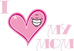 I Love Heart My Mom Mother's Pink T-shirts & Gifts