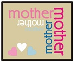 Mother Plaque with Hearts Mother's T-shirts Gifts