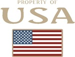 Property of USA Flag July 4th T-shirts & Gifts