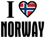 I Love (heart) Norway Flag T-shirts & Gifts