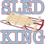 Sled King t-shirts gifts