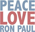 Peace Love Ron Paul T-shirts Gifts