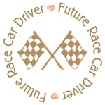 Future Race Car Driver Flag Girl T-shirts Gifts