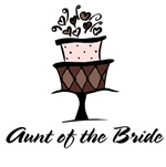 Aunt of the Bride Cake T-shirts Gifts