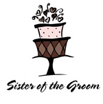 Sister of the Groom Pink Cake T-shirts Gifts