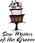 Step Mother of Groom Pink Cake T-shirts Gifts