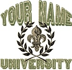 Fleur de Lis Name University T-shirts Gifts