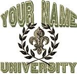 Fleur de Lis Name University T-shirts Gifts