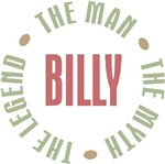 Billy the Man the Myth the Legend T-shirts Gifts