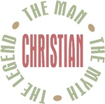 Christian Man the Myth the Legend T-shirts Gifts
