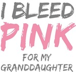 Bleed Pink Granddaughter Breast Cancer T-shirts Gi
