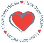 I Love Heart John McCain T-shirts Gifts