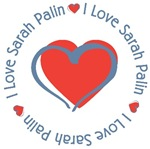 I Love Heart Sarah Palin T-shirts Gifts
