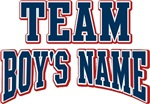 Any Team Boy's Name Personalized Custom Tees Gif