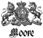 Moore Vintage Family Name Crest Tees Gifts