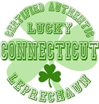 Authentic Lucky Connecticut Leprechaun Tees Gifts