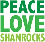 Peace Love Shamrocks Tees Gifts