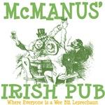 McManus' Irish Pub Personalized Tees Gifts