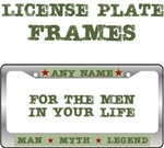 Men's Custom Man Myth Legend License Plate Frames