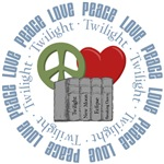 Peace Love Twilight Books Tees Gifts