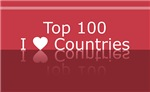 Top 100 I Heart Countries T-shirts Gifts