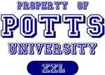 Property of Potts Last Name University Tees Gifts