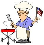 Patriotic BBQ guy
