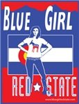 Blue Girl Red State Colorado