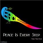Peace rainbow Dove Dark Tee