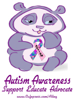 AUTISM AWARENESS (PURPLE BEAR)