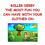 a funny roller derby joke on gifts and t-shirts.
