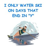 a funny water skiing joke on gifts and t-shirts.