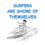 a funny surfing joke on gifts and t-shirts.