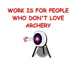 a funny archery joke on gifts and t-shirts