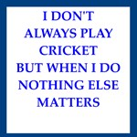 cricket joke on gifts and t-shirts.