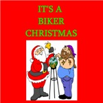 biker christmas t-shirts and gifts