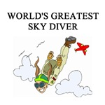 world's greatest sky diver gifts t-shirts