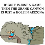 GOLF GRAND CANYON JOKE GIFTS T-SHIRTS