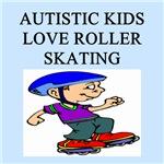 autistic boys roller skating gifts t-shirts
