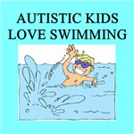 autistic boys swimming gifts t-shirts