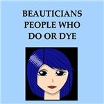 funny beauty beautician joke gifts t-shirts