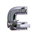 Heavy Metal initial letter C monogram