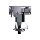 Heavy Metal initial letter T monogram